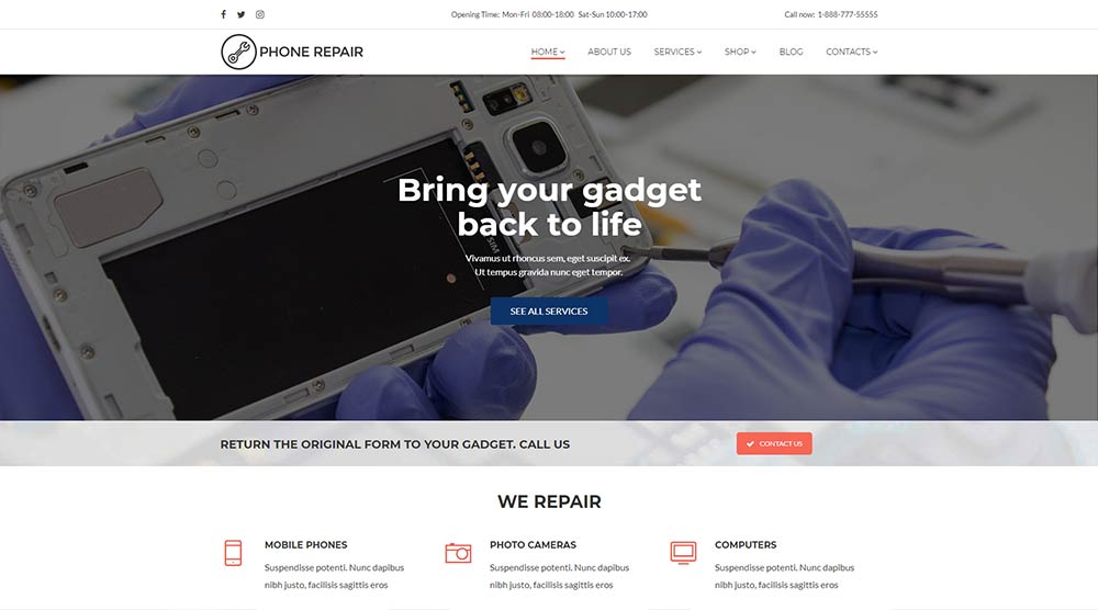 Phone Repair WordPress Theme