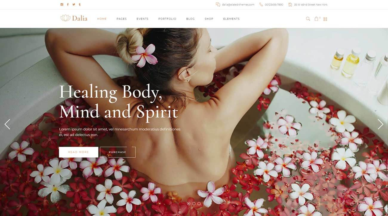 dalia-creative-spa-wordpress-theme