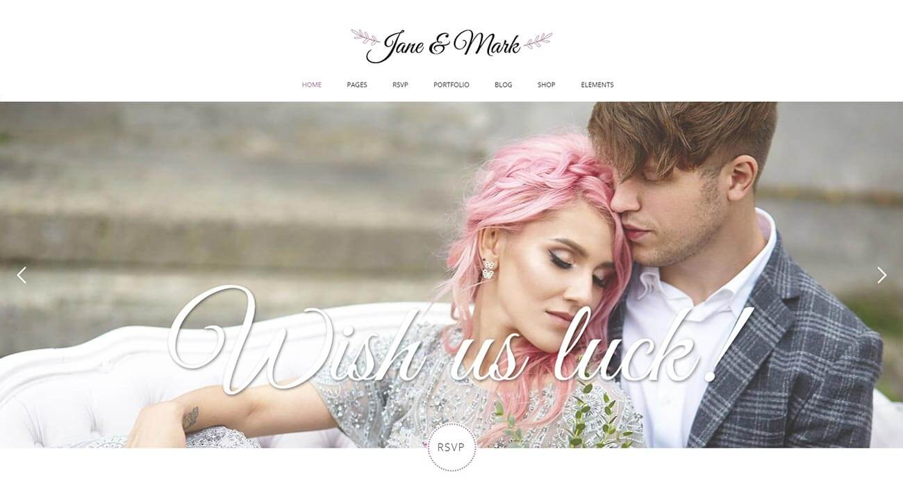 Jane and Mark WordPress Theme