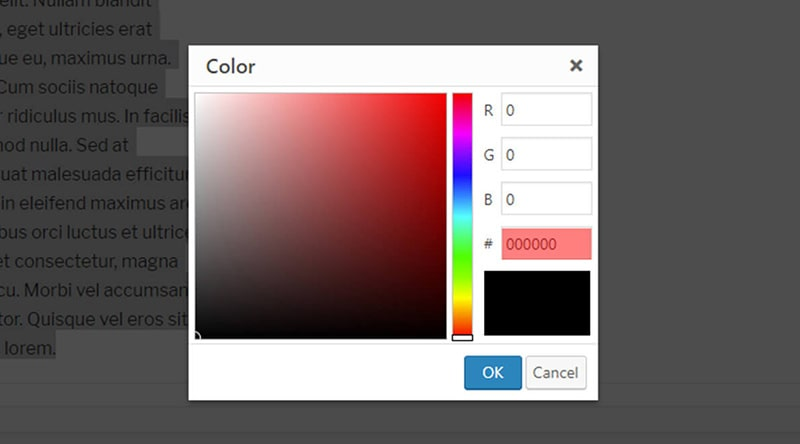 Add a Custom Color