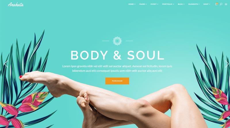 Anahata Spa WordPress Theme