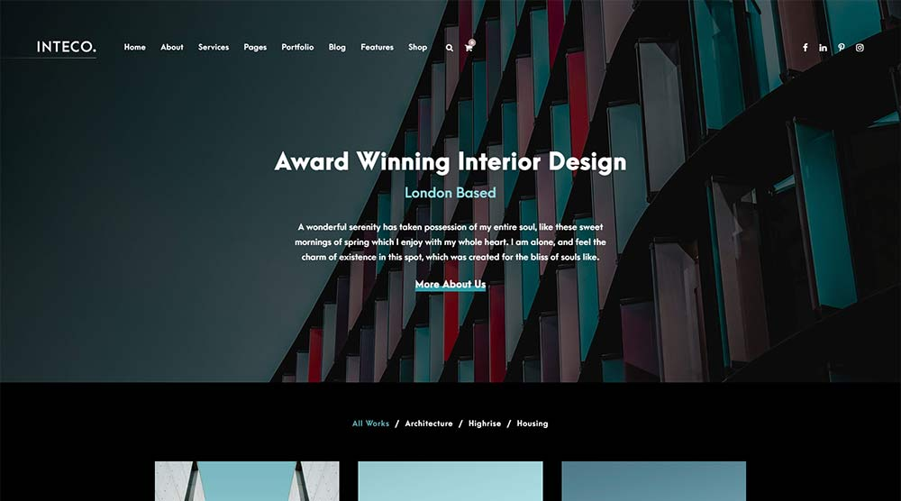 Inteco WordPress Theme