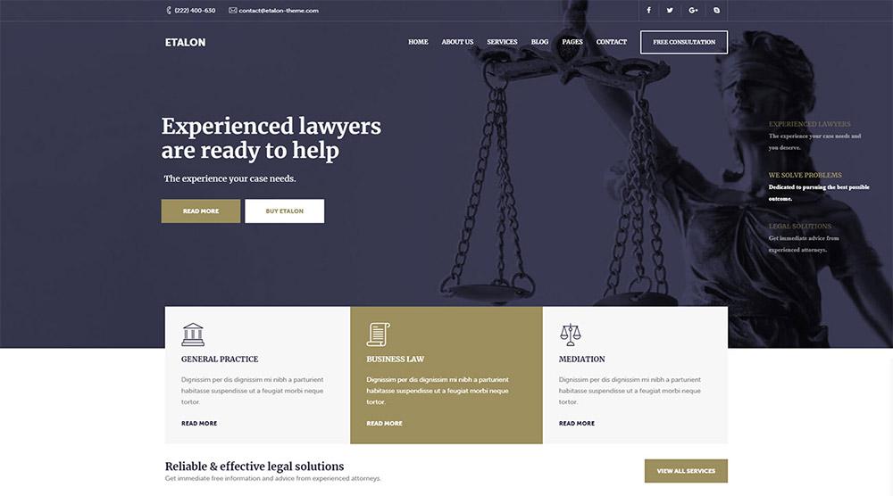 Etalon Lawyer WordPress Theme