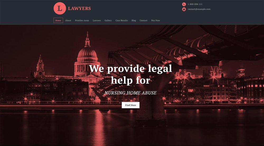 Lawyers WordPress Theme