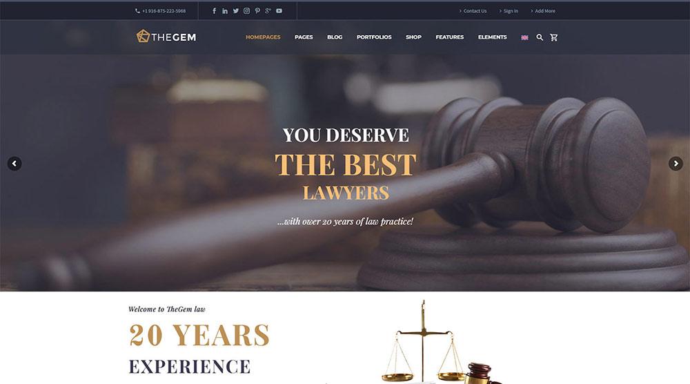 TheGem Lawyer WordPress Theme