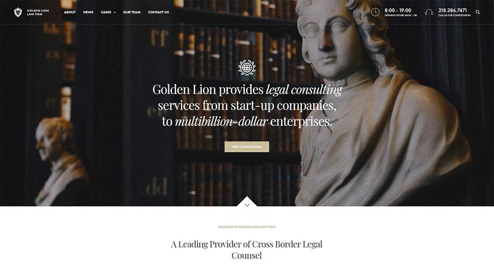 Revolution Lawyer WordPress Theme