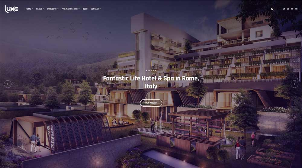 Luxe Architecture WordPress Theme