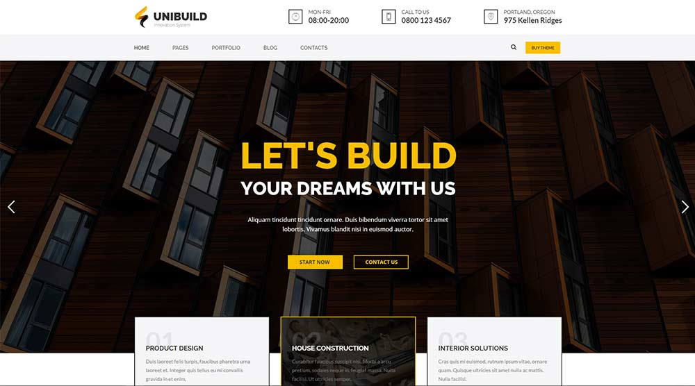 Unibuild WordPress Theme