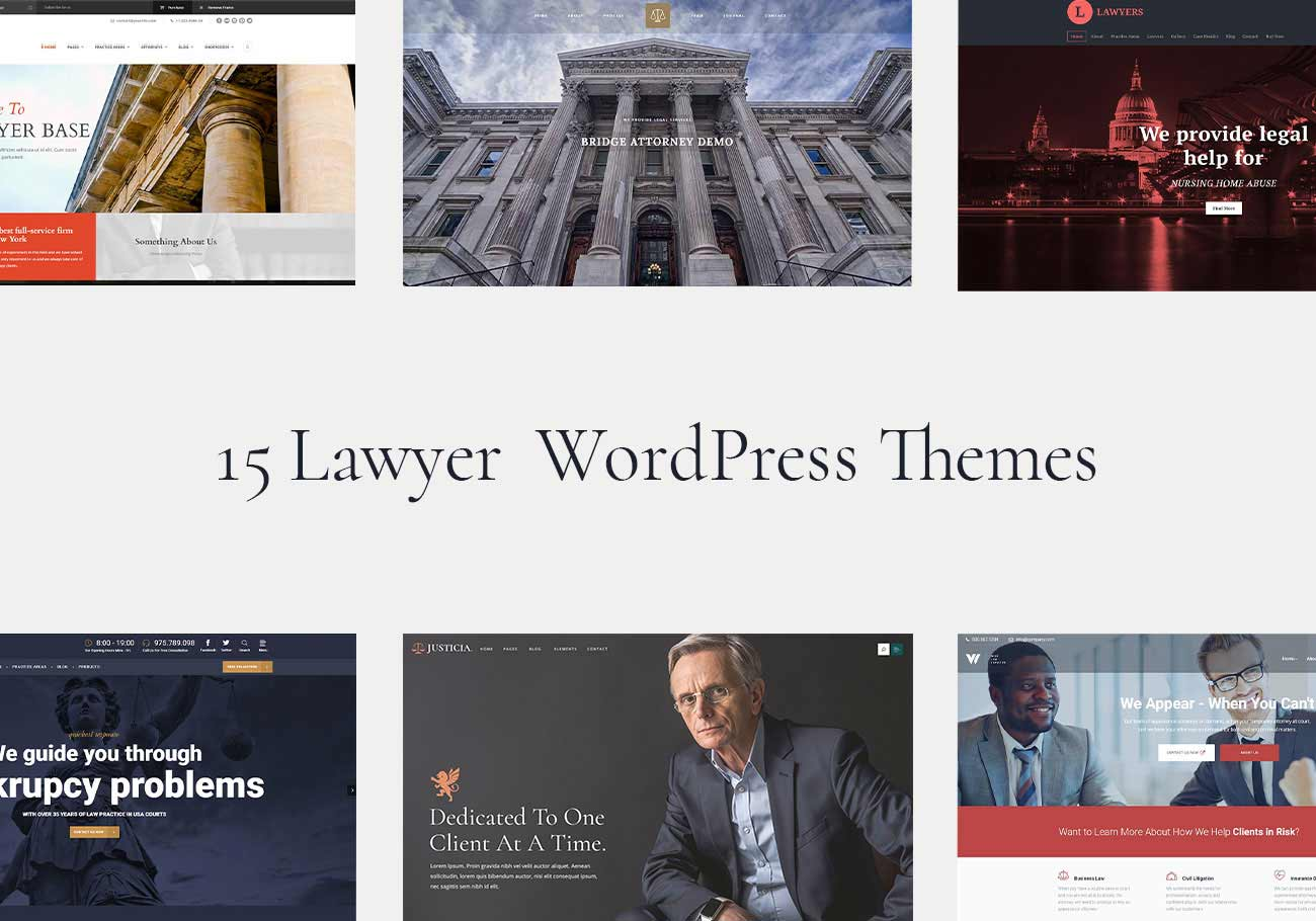 Professional and Unique Lawyer WordPress Themes