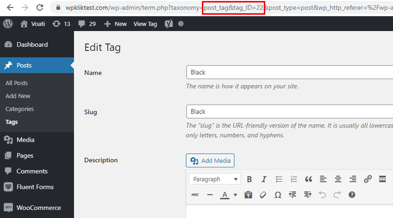 Finding IDs for Tags