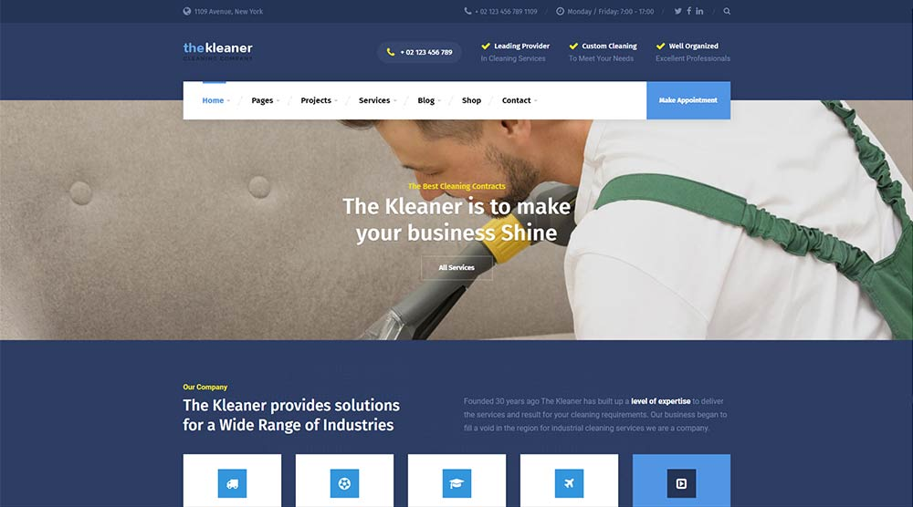 The Kleaner WordPress Theme