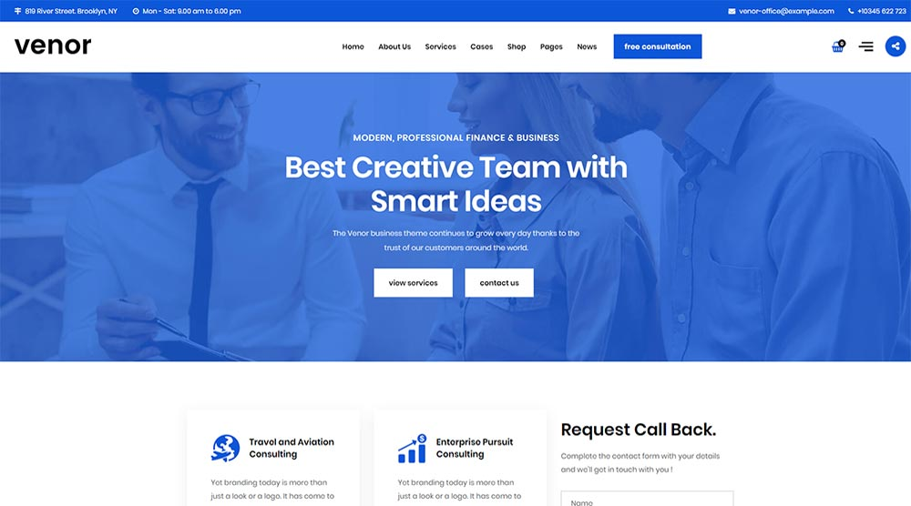 30+ Trendy Small Business WordPress Themes 2019 - WPKlik