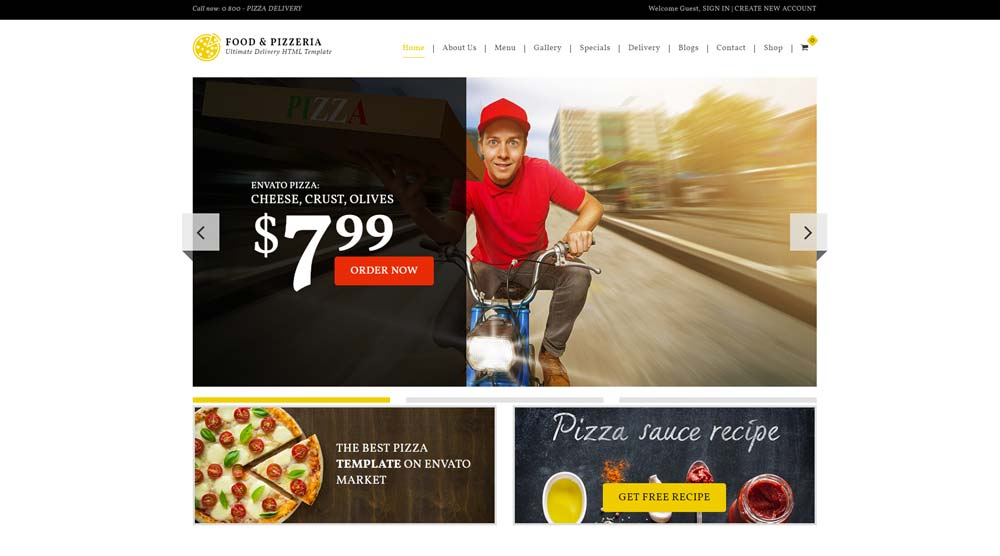 10+ Popular and Innovative WordPress Pizza Themes (Updated