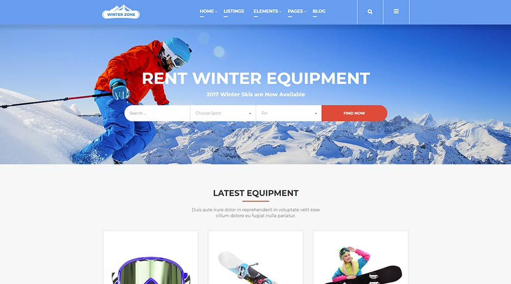 wordpress-winter-theme