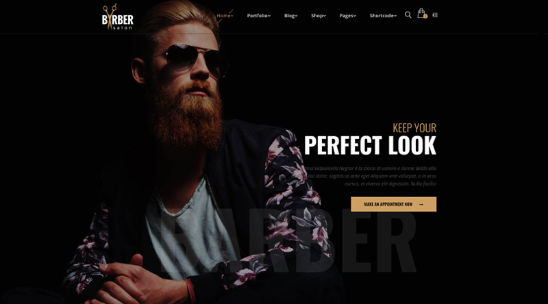 Barber WordPress Theme