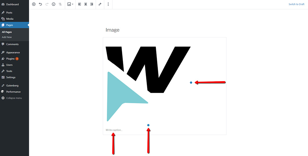 image settings gutenberg wordpress