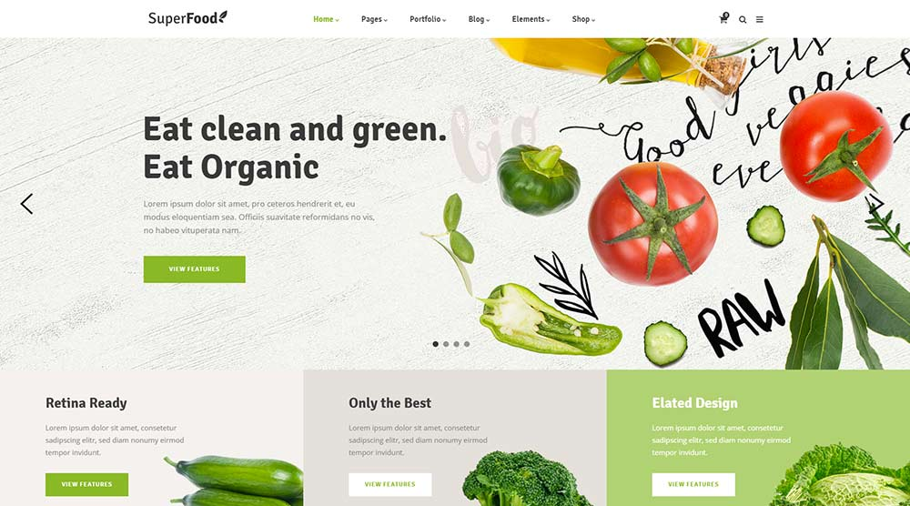 superfood vegetarian theme