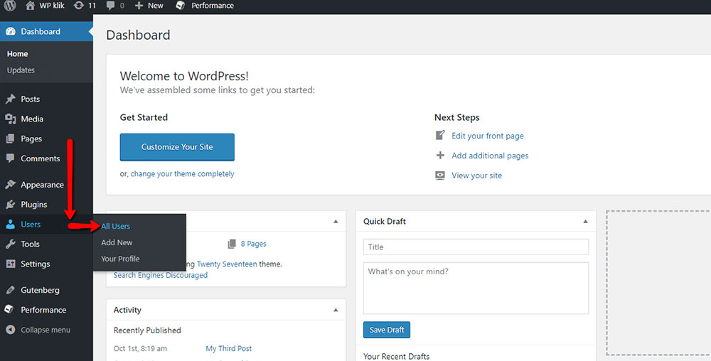 user id wordpress