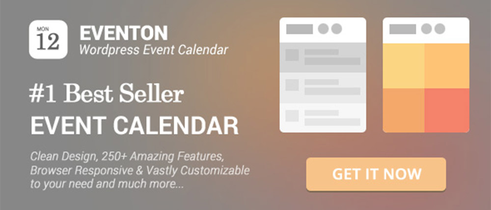 EventOn WordPress Event Calendar Plugin