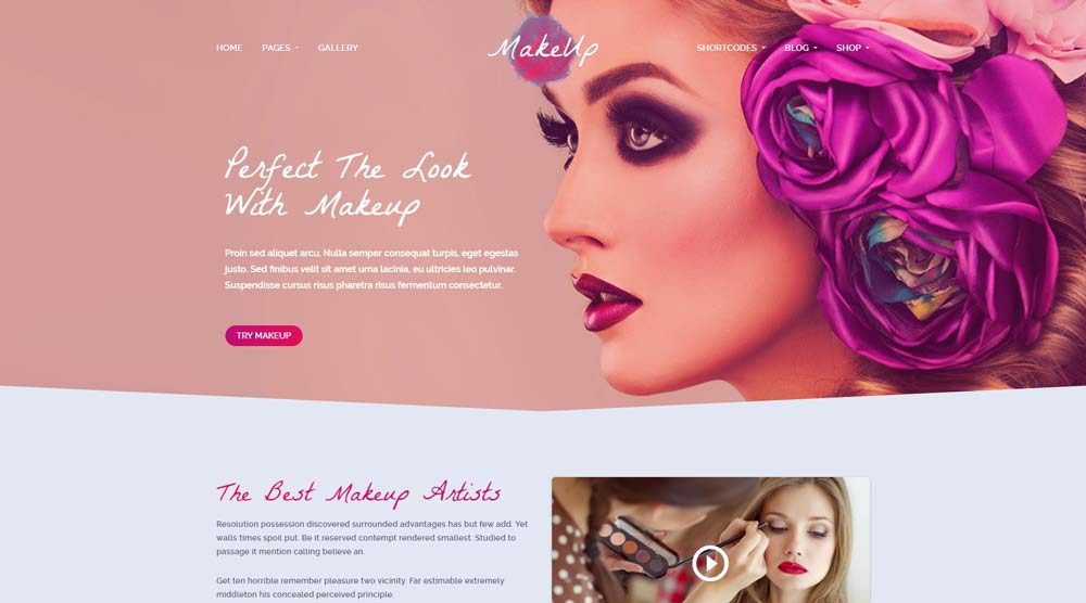 Beautiful Cosmetics WordPress Themes In
