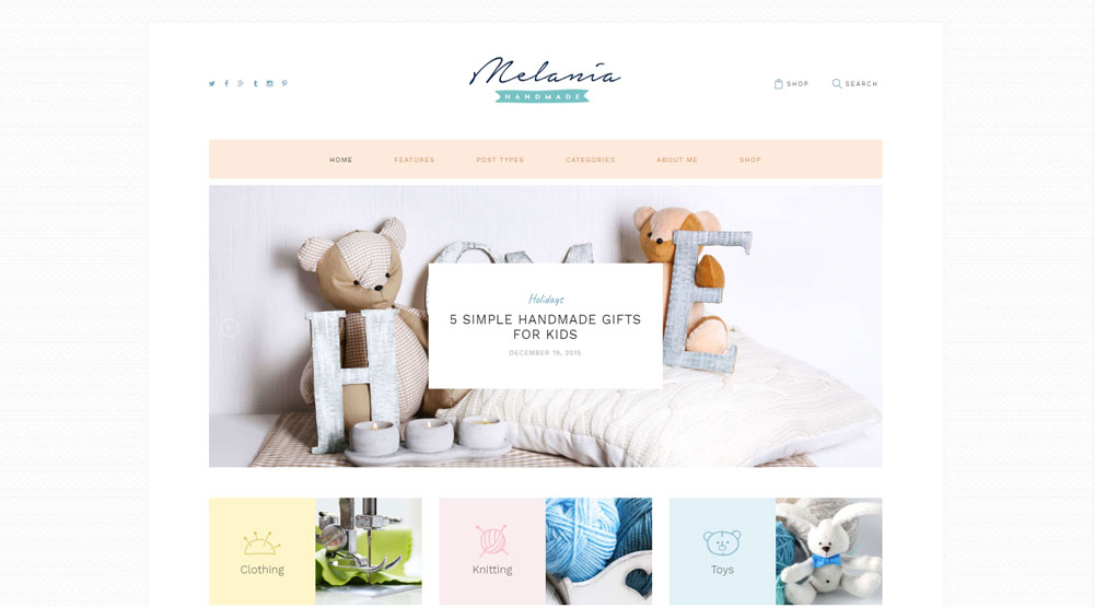 Melania Wordpress Theme