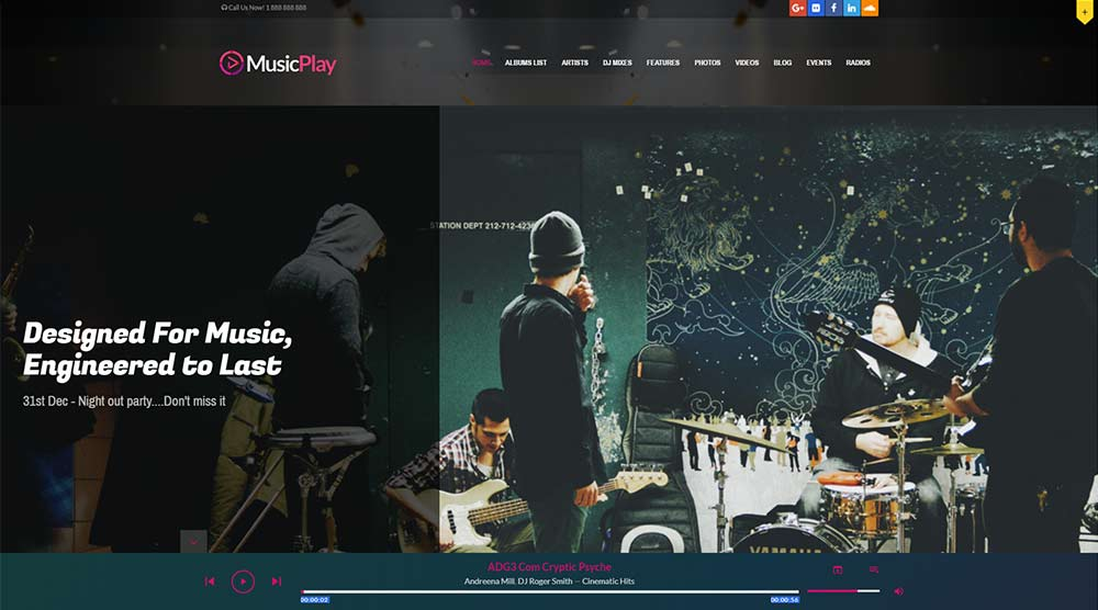 MusicPlay WordPress Themes