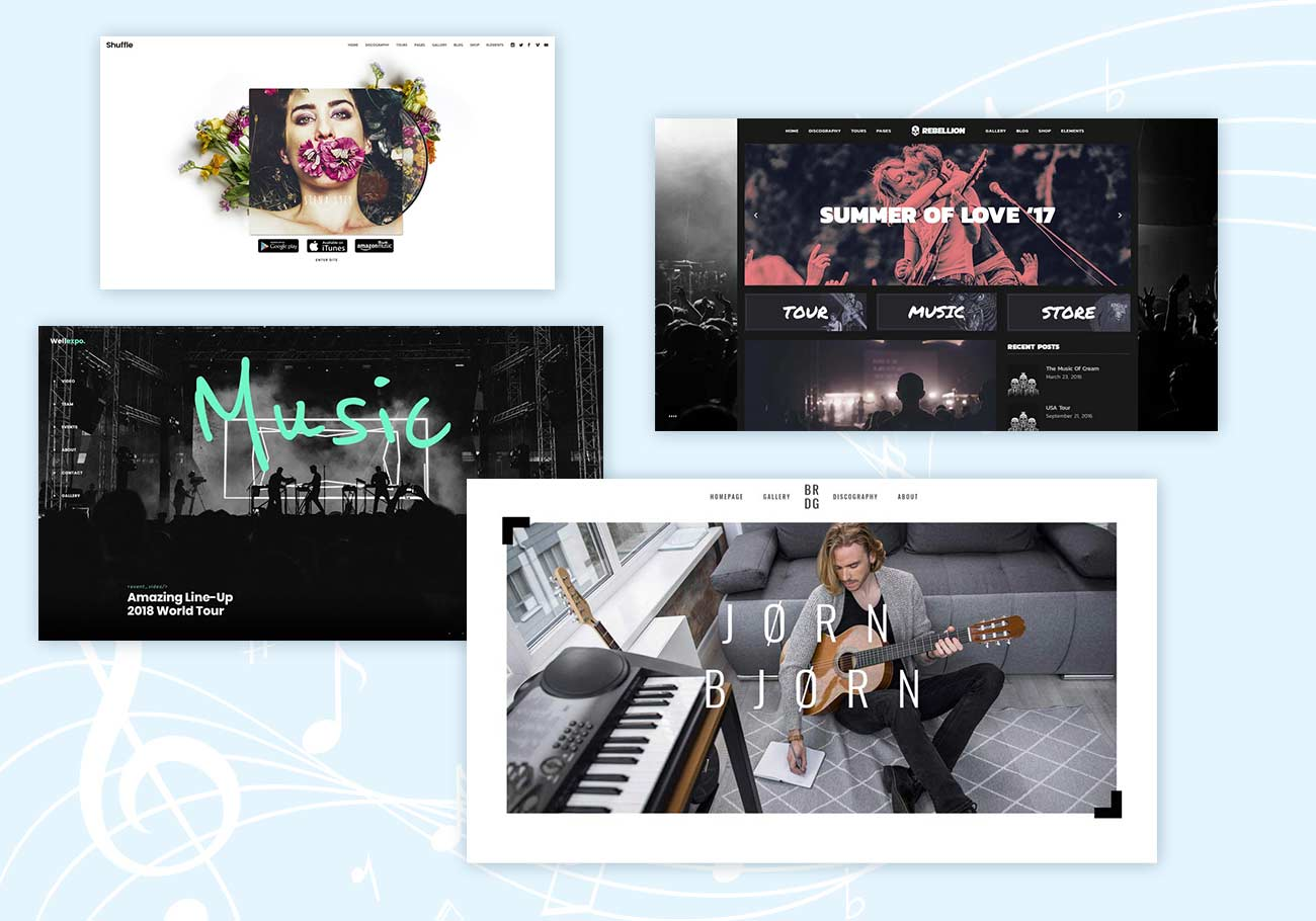Top 5 WordPress Themes for Musicians
