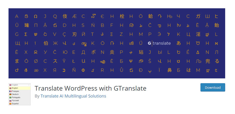 Translate WordPress with GTranslate plugin