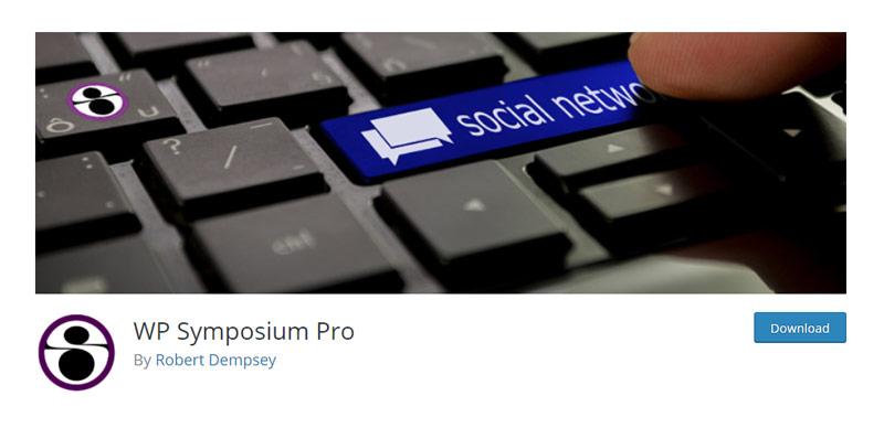 WP Symposium plugin