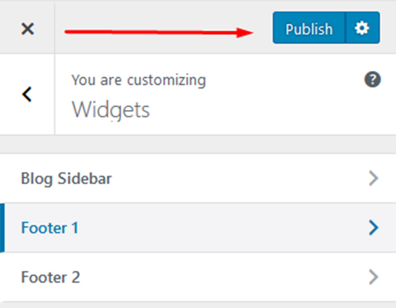 Publish Widgets