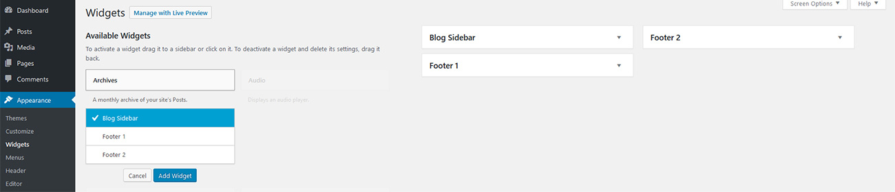 How to Add WordPress Widgets to Your Site 5