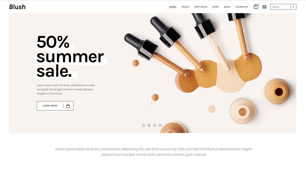 Blush Wordpress Template