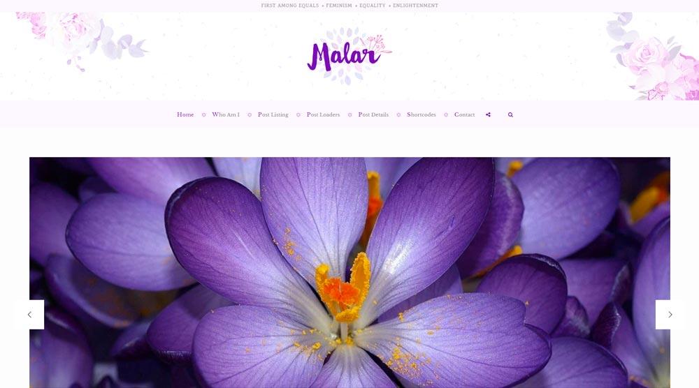 Malar Blog Template
