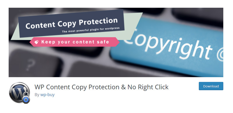 WP Content Copy Protection & No Right Click plugin