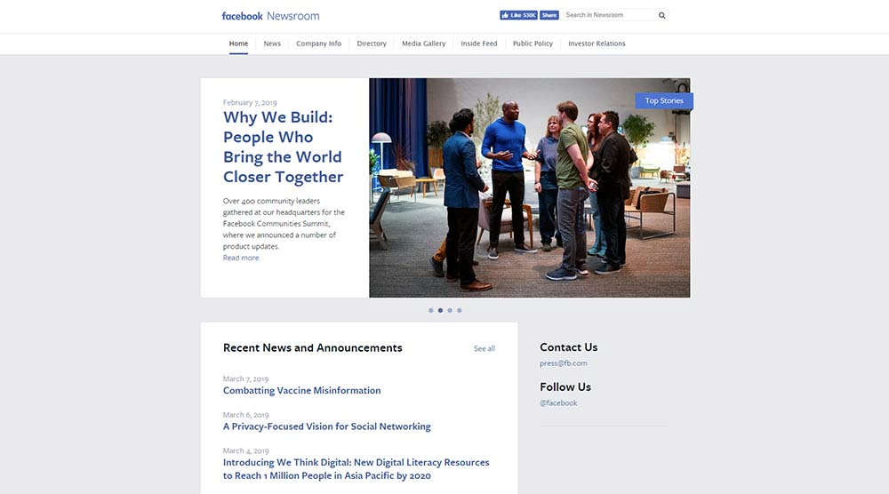 Facebook Newsroom