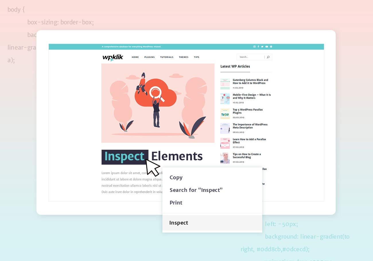 How to Inspect Website Elements in Your Browser