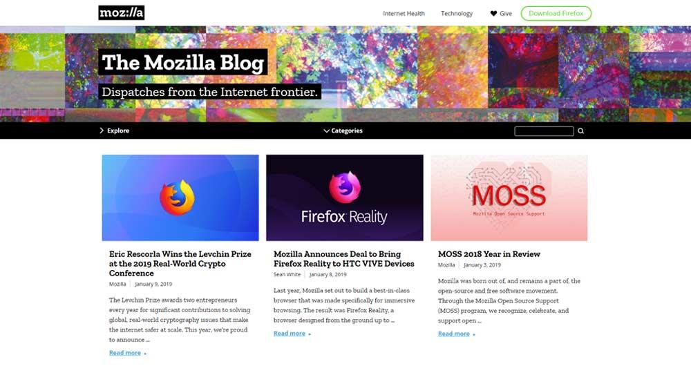 Mozilla blog