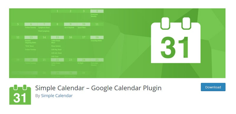 Simple Calendar Google Calendar Plugin