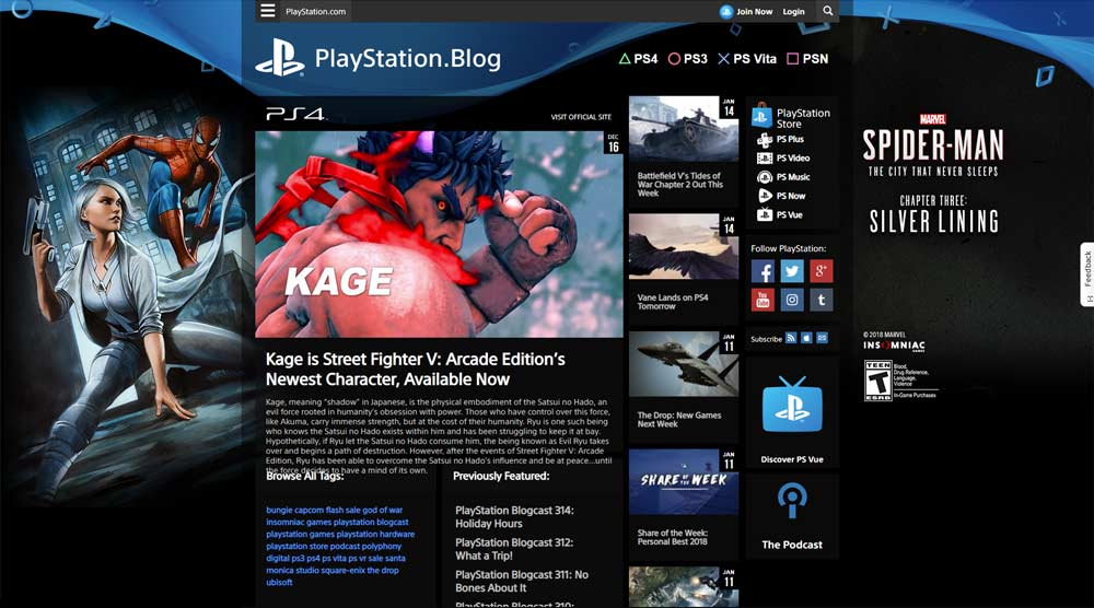 Sony PlayStation blog