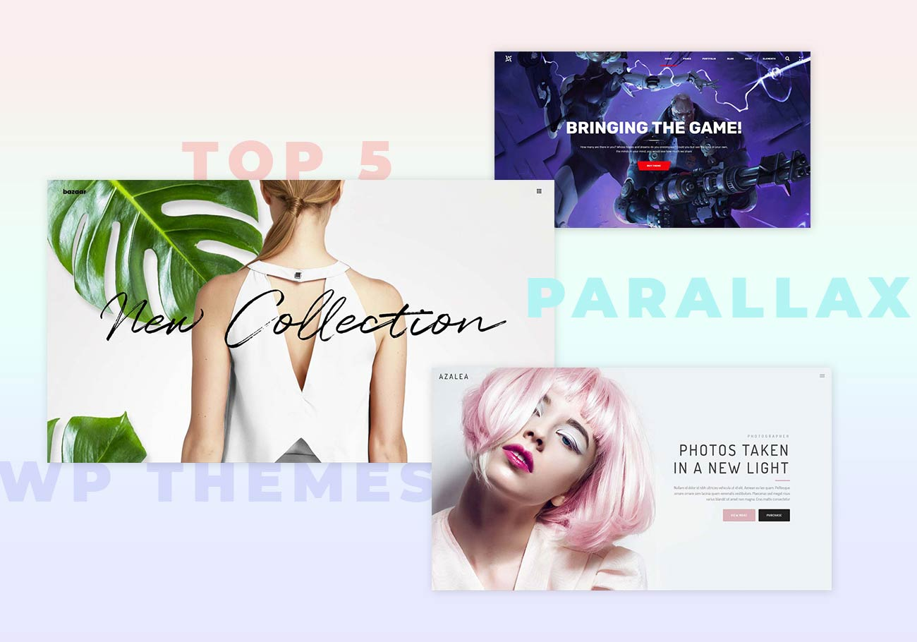 Top 5 Parallax WordPress Themes