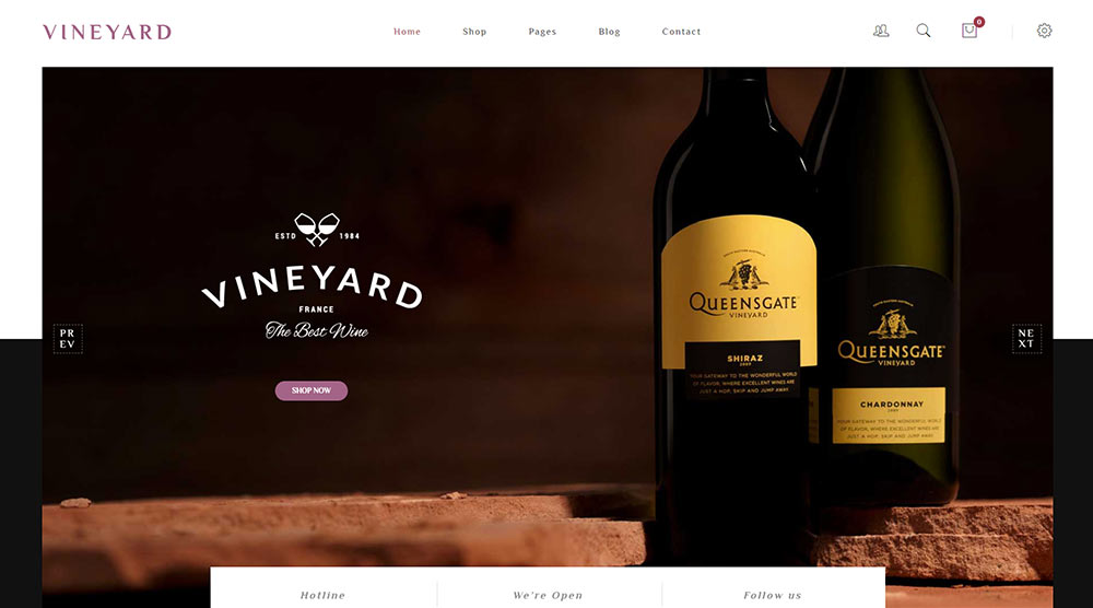 Vineyard wordpress theme