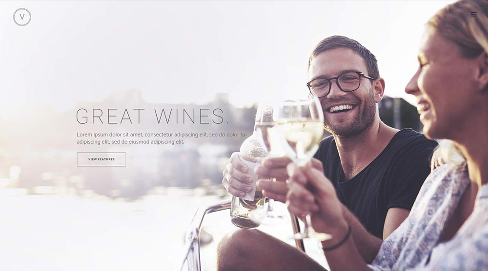 Vino wordpress theme