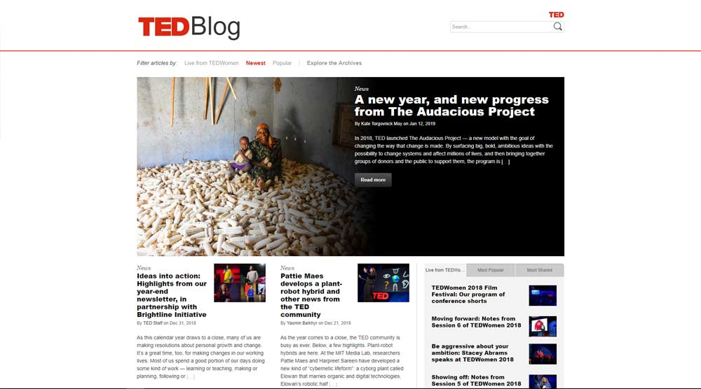 Ted Blog Website