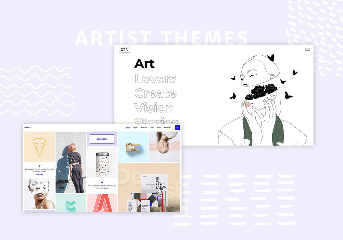 5 Best Artist Portfolio Wordpress Themes