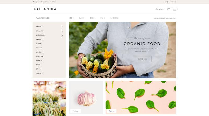 Bottanika WordPress Theme