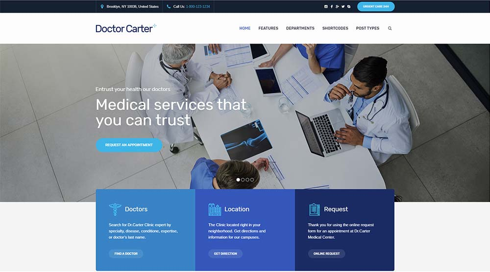 Doctor Carter WordPress Theme