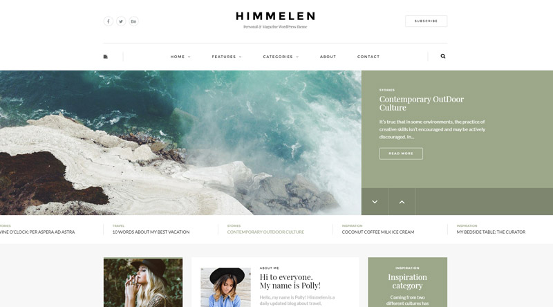 Himmelen WordPress Theme