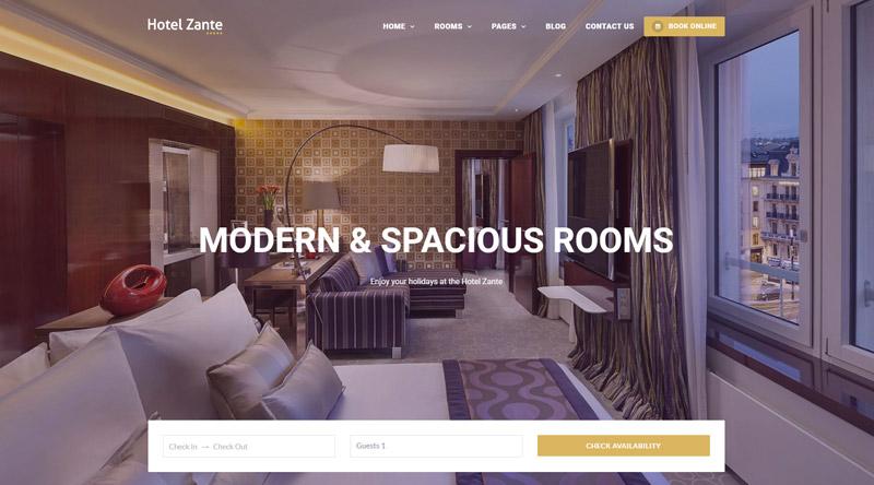 Hotel Zante WordPress Theme