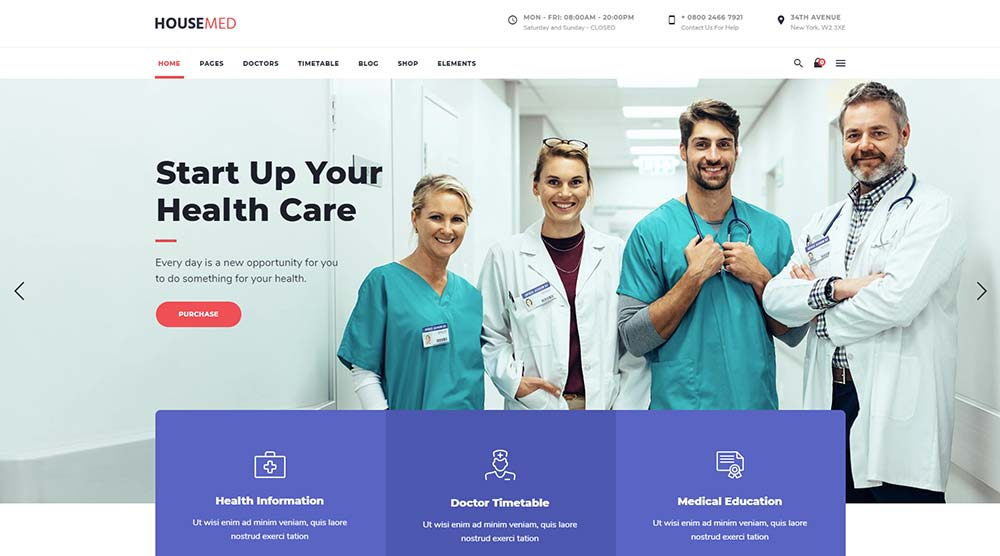 HouseMed WorPress Theme
