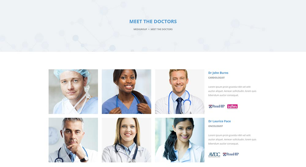 Medigroup Doctors WordPress Theme